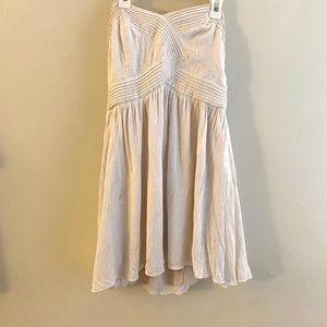 4 / $25 Kimchi Blue Strapless Cream Dress, M